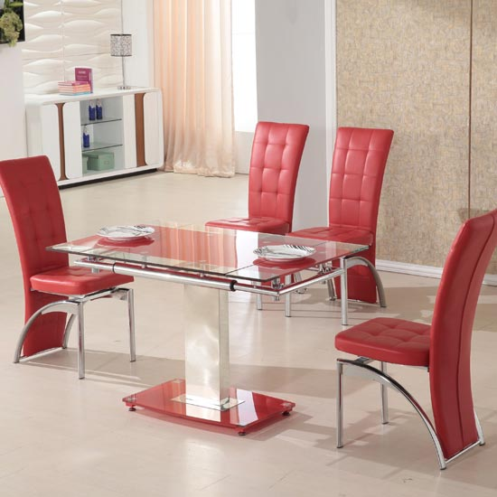 extendable dining table set 4 chairs